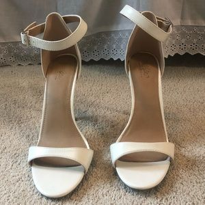Mossimo white open toe stilettos